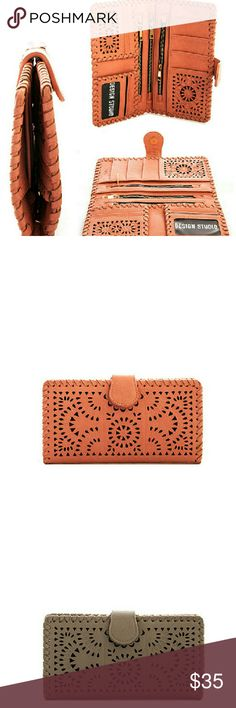 Laser Cut Passport Wallet Multi Organizer Fuax Leather Miayoo Bags Wallets