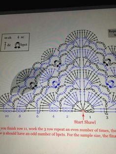 Halbe Anleitung für eine bestimmt schöne Stola