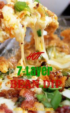 Hot 7 Layer Bean Dip-Creole Contessa
