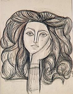 Francoise Gilot, 1946 by Pablo Picasso on Curiator, the world's biggest collaborative art collection. Pablo Picasso Drawings, Picasso Sketches, Kunst Picasso, Art Picasso, Art Drawings, Pablo Picasso Zeichnungen, Arte Latina, Francoise Gilot, Pop Art