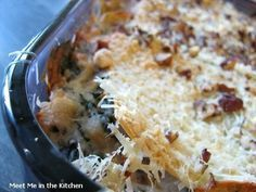 Trisha Yearwood's Chicken Spinach Lasagna Casserole (This recipe is SO good, I've made it many times and it is really good and filling. I do saute the the spinach and onion with some chopped garlic and butter. Delish!)