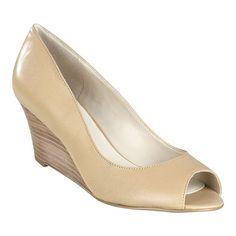 close heeled leather wedges $79