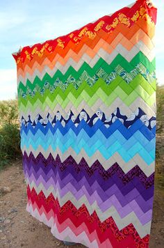 Bright Chevron Quilt