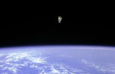 Into the Black: Bruce McCandless Floats Free in Space, 1984
