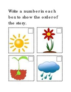 Sequencing How Flowers Grow Following Directions Comprehension Emergent Reader Printable 2 Options Cut Out Mix Up and Write Number In Each Box. Math Numbers 1-4. 2 pages. Please check out more fun fantastic bargains: https://www.teacherspayteachers.com/Store/Word-Masters