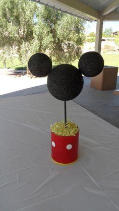 Centro de mesa de fiesta Mickey mouse