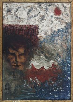 Syd Barrett  This is Syd's self-portrait, painted from 1961-1962. He used oil paint on a 31 × 23cm board.