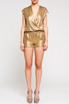 Yowsah! Gold Sequin Romper by Haute Hippie. LOVE!