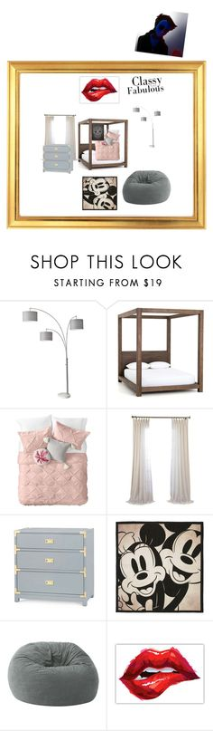 """""""bedroom"""" by sarah-oliveras ❤ liked on Polyvore featuring interior, interiors, interior design, home, home decor, interior decorating, Adesso, Nordstrom Rack, Bungalow 5 and Disney"""