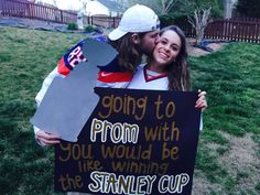 Promposal hockey style Prom Posals, Homecoming Proposal, Prom Dance, Senior Prom, Formal Proposals, Hoco Proposals, Promposal Ideas For Him, Dance Proposal, Proposal Ideas