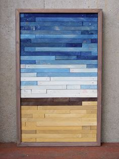 Reclaimed Wood Abstract Beach.  You could use any design...just need a little imagination. ;)