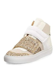 X3MLZ MM6 Maison Martin Margiela Glitter High-Top Sneaker