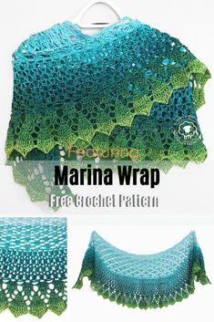 Stunning One Ball Shawl Free Crochet Pattern - Knit And Crochet Daily This stunning one ball shawl is light and airy and is the perfect pattern for It's A Wrap Rainbow yarn. This pattern makes a shawl with just 1 ball. One Skein Crochet, Crochet Shawl Free, Crochet Motifs, Crochet Shawls And Wraps, Crochet Scarves, Crochet Stitches, Crochet Patterns For Scarves, Bobble Crochet, Crochet Vests
