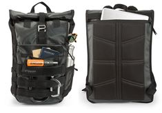 Hit the road with Spire backpack, designed exclusively for Apple. It features a waterproof rolltop, ventilated back panel and loads of zips and Backpack Travel Bag, Travel Bags, Leather Briefcase, Men's Briefcase, Leather Men, Leather Jackets, Pink Leather, Computer Backpack, Back Bag
