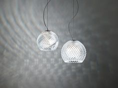 Suspension en cristal DIAMOND SWIRL | Suspension - Fabbian