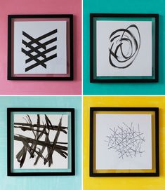 4 ways to DIY some black & white modern art from Michaels Makers At Home In Love