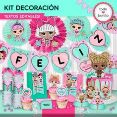 LOL: kit imprimible decoración de fiesta Funny Birthday Cakes, Candy Bar Party, Doll Party, Lol Dolls, Shopkins, Holidays And Events, Party Supplies, Party Themes, Holiday Decor