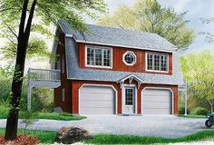 Compact Carriage House Plan - 21204DR | Architectural Designs - House Plans