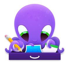 Steward the octopus loves organizing anything you hand over! Octopus Illustration, App Icon Design, Iconic Characters, Character Creation, Electronics Gadgets, Wireless Speakers, Sketches, Loudspeaker, Logitech