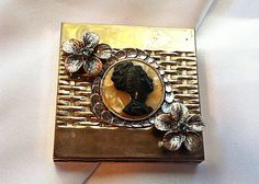Vintage Volupte Compact ReDesigned Brooch Cameo by TheMakersChoice, $49.99