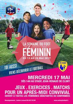 Journée du foot féminin de l'US Cluny football le 17 mai 2017 à Cluny : http://clun.yt/2n8ujsF