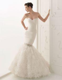 Top Ball Gown Strapless Strapless Ruffles Wedding Dress 2014 Style at Storedress.com