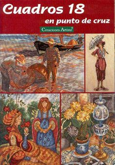 (1) Gallery.ru / Фото #1 - Cuadros 18 - tymannost Cross Stitch Magazines, Cross Stitch Books, Cross Stitch Designs, Cross Stitch Patterns, Cross Stitching, Cross Stitch Embroidery, Filet Crochet, Book Cover Design, Painting