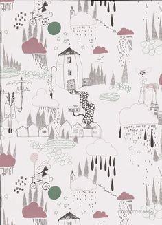 In the Rain wallpaper, Ferm Living
