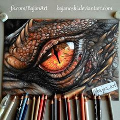 Smaug eye drawing by Bajan-Art on Devian. Smaug eye drawing by Bajan-Art on DeviantArt Amazing Drawings, Cool Drawings, Amazing Art, Dragon Drawings, Horse Drawings, Eye Drawings, Animal Drawings, Dragon Eye Drawing, Awesome