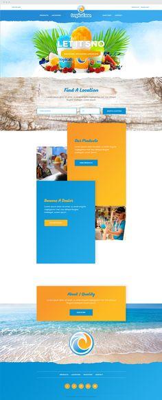 Tropical Sno Website. #tropicalsno #shaveice #shavedice #snocone #marketing #epicmarketing #packagedesign #graphicdesign #responsive #webdesign