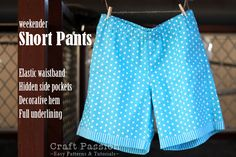 Sewing Shorts Pattern - okay, so this fabric is hideous, but with the right fabric these could be cute