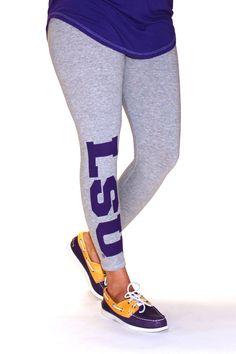 c01f84bd95b41 LSU Leggings College Football Teams, Lsu Tigers Football, Lsu Gear,  Football Fashion,