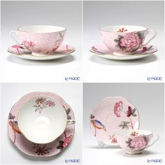"""Wedgwood Harle Queen Collection """"Cuckoo"""" Tea Cup & Saucer"""