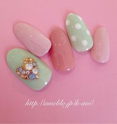 Beautiful nail art designs that are just too cute to resist. It's time to try out something new with your nail art. Cute Nail Art, Beautiful Nail Art, Cute Nails, Fancy Nails, Trendy Nails, Diy Nails, Kawaii Nails, Japanese Nail Art, Pastel Nails