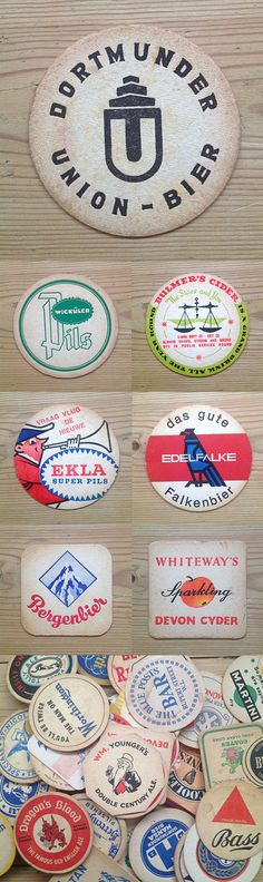 Creative Yesteryear, Coasters, Illustration, Vintage, and Coaster image ideas & inspiration on Designspiration Wedding Coasters, Beer Coasters, German Beer Brands, Devon, Sous Bock, Beer Mats, Coaster Design, Beer Packaging, Bottle Design