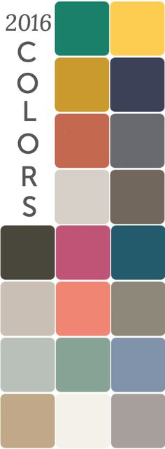 2016 contrasting color trends ~ inspiration for decorating #colour #inspiration #palette