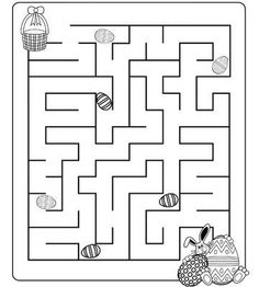 Crafts,Actvities and Worksheets for Preschool,Toddler and Kindergarten.Free printables and activity pages for free.Lots of worksheets and coloring pages. Easter Games, Easter Activities, Easter Crafts For Kids, Easter Worksheets, Easter Printables, Mazes For Kids Printable, Free Printable, Easter Coloring Pages, Easter Celebration