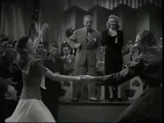 """Jean Veloz is featured here dancing with Don Gallager & Lenny Smith in this delightful number """"One Girl and Two Boys,"""" sung by Marilyn Maxwell with Kay Kyser's band from """"Swing Fever"""" (1944).      Learn Jean's fabulous Lindy Hop style on Legends of Swing  http://rustyfrank.com"""