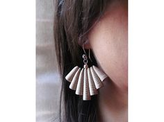 Paper jewelry Beige brown upcycled/ organic jewelry/ by Paperica, $30.00