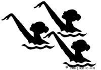 Risultati immagini per synchronize swimmers cartoon