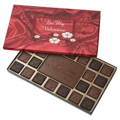 Be My Valentine Ornate Frame Red Satin 45 Piece Assorted Chocolate Box