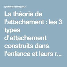 La théorie de l'attachement : les 3 types d'attachement construits dans l'enfance et leurs répercussions à l'âge adulte