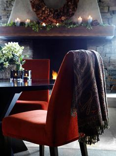 Lodge Decor, Winter House, Bed And Breakfast, Lodges, My House, Sweet Home, Dining, Chair, Christmas