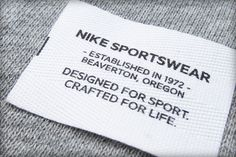 NIKE SPORTSWEAR LABELS by LIZZY GREEN, via Behance