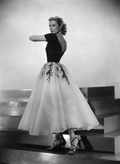 "Grace Kelly in Edith Head's costume for the movie ""Rear Window."""
