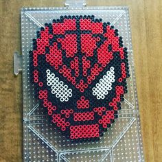 Spiderman perler beads by jayrod - Visit to grab an amazing super hero shirt now on sale! Perler Bead Templates, Diy Perler Beads, Perler Bead Art, Pearler Beads, Melty Bead Patterns, Hama Beads Patterns, Beading Patterns, Minecraft Beads, Nerd Crafts