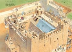 Building a square keep. Historical Architecture, Ancient Architecture, Castles In England, Lego Castle, Fantasy Castle, Fortification, Knights Templar, Medieval Castle, Forts