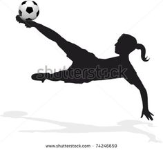 women's soccer player bicycle kick stock vector - Womens Bicycle - Ideas of Womens Bicycle - women's soccer player bicycle kick stock vector Soccer Art, Soccer Logo, Soccer Games, Soccer Silhouette, Girl Silhouette, Football Girls, Girls Soccer, Football Doodle, Soccer Drawing