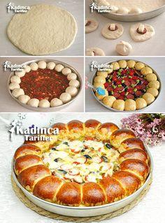 Our Favorite Barbecue Chicken Pizza Pizza night just got even more delicious! Donut Recipes, Pastry Recipes, Pizza Recipes, Cookie Recipes, Snack Recipes, Snacks, Bread Recipes, Pizza Cake, Bread Pizza