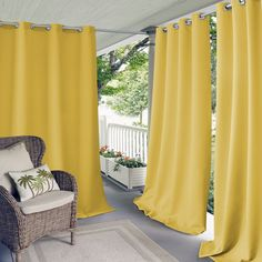 Elrene Connor Indoor/Outdoor Curtain Panel (95 Inches - Taupe (Brown)) (Polyester, Solid), Outdoor Décor